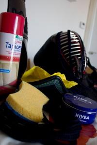 Así limpiaba el bogu que yo la vi. Sin sprays caros, sin febreeze, limpiamos el men, el kote y el tare con productos Hacendado, como debe ser.