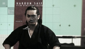 Detalle del portfolio de Haroun Saifi, realizador del docu Ken No Michi para la cadena Kombat Sports.