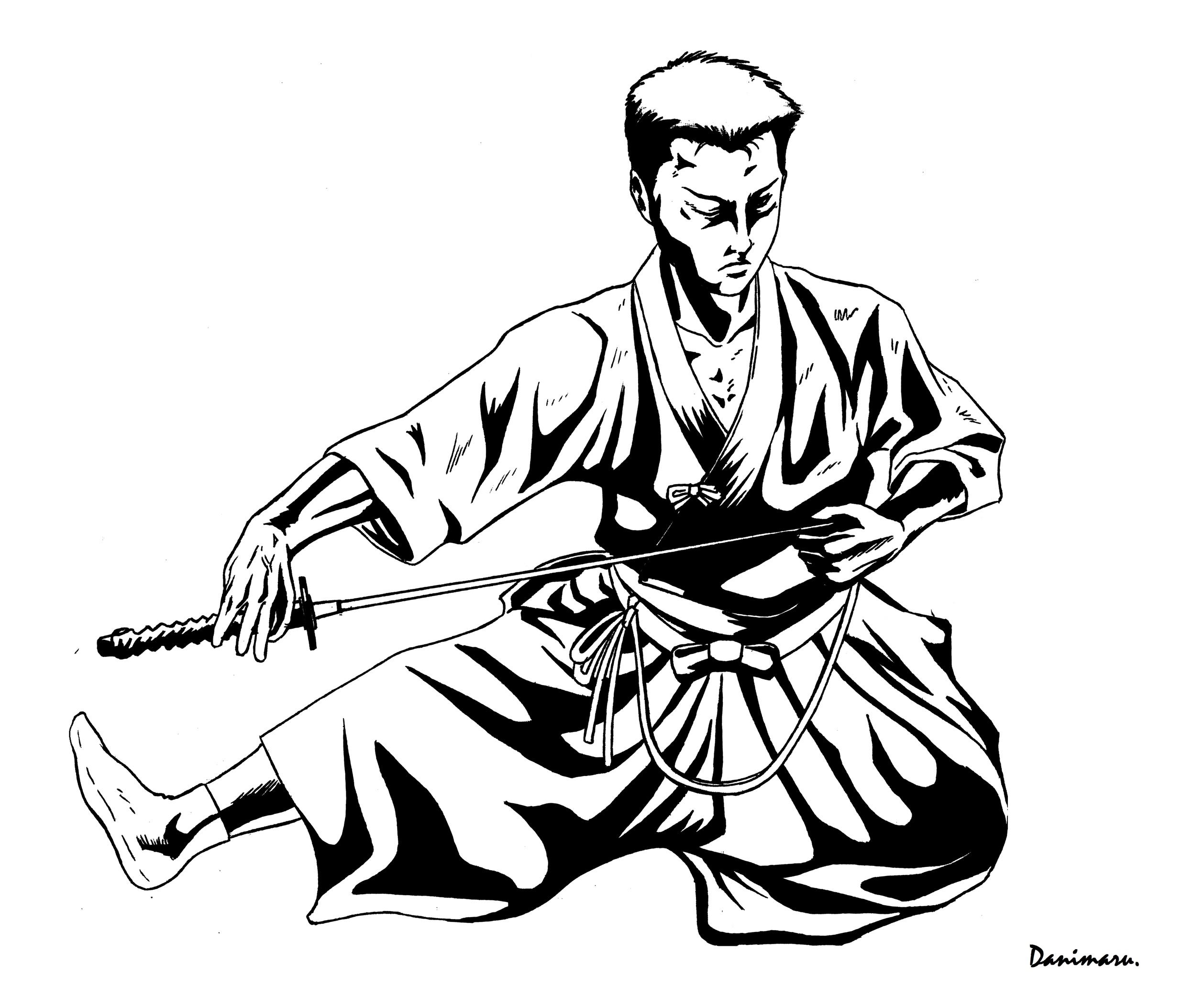 noto, una nueva viñeta de Daniel Kogan, aka Danimaru. Esta vez, una ilustración sobre Iaido aprovechando el V Campeonato de España que acabamos de celebrar. Toma SEO