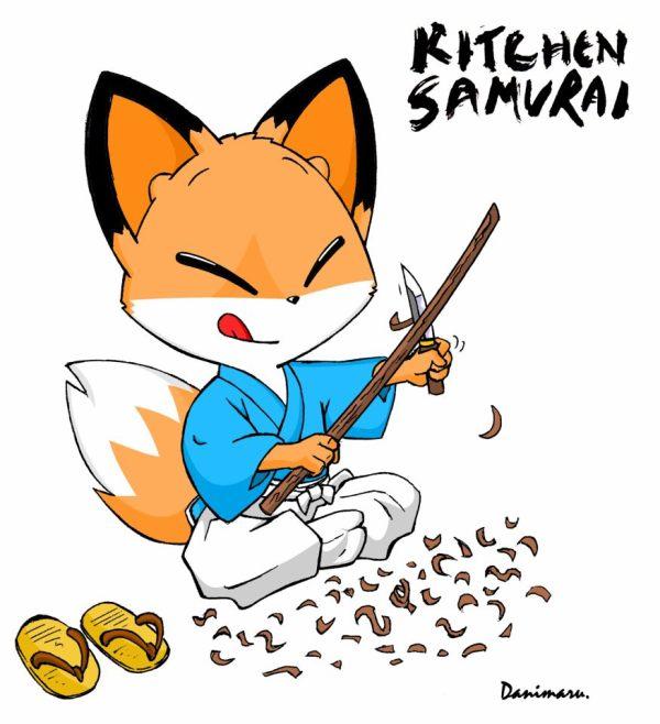 Kitchen Samurai es un cómic largo en el que Danimaru lleva trabajando más de un año. Mientras llegan nuevas páginas de Kendo School, os pasamos una nueva ilustración de su protagonista, el zorro Yoshi.
